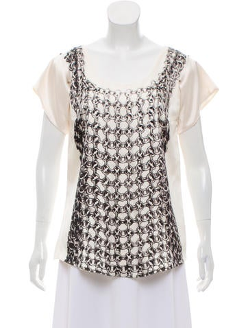 Narciso Rodriguez Printed Silk Top None