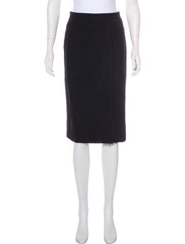 Narciso Rodriguez Wool Pencil Skirt None