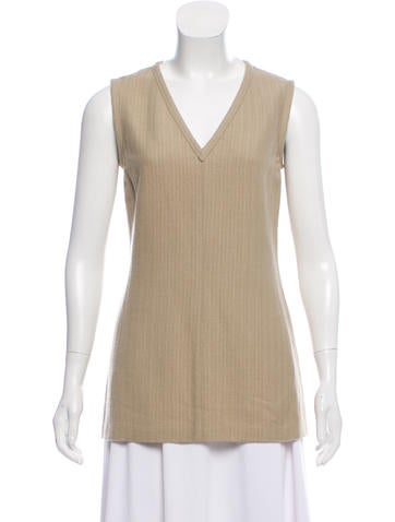 Narciso Rodriguez Wool Sleeveless Top None