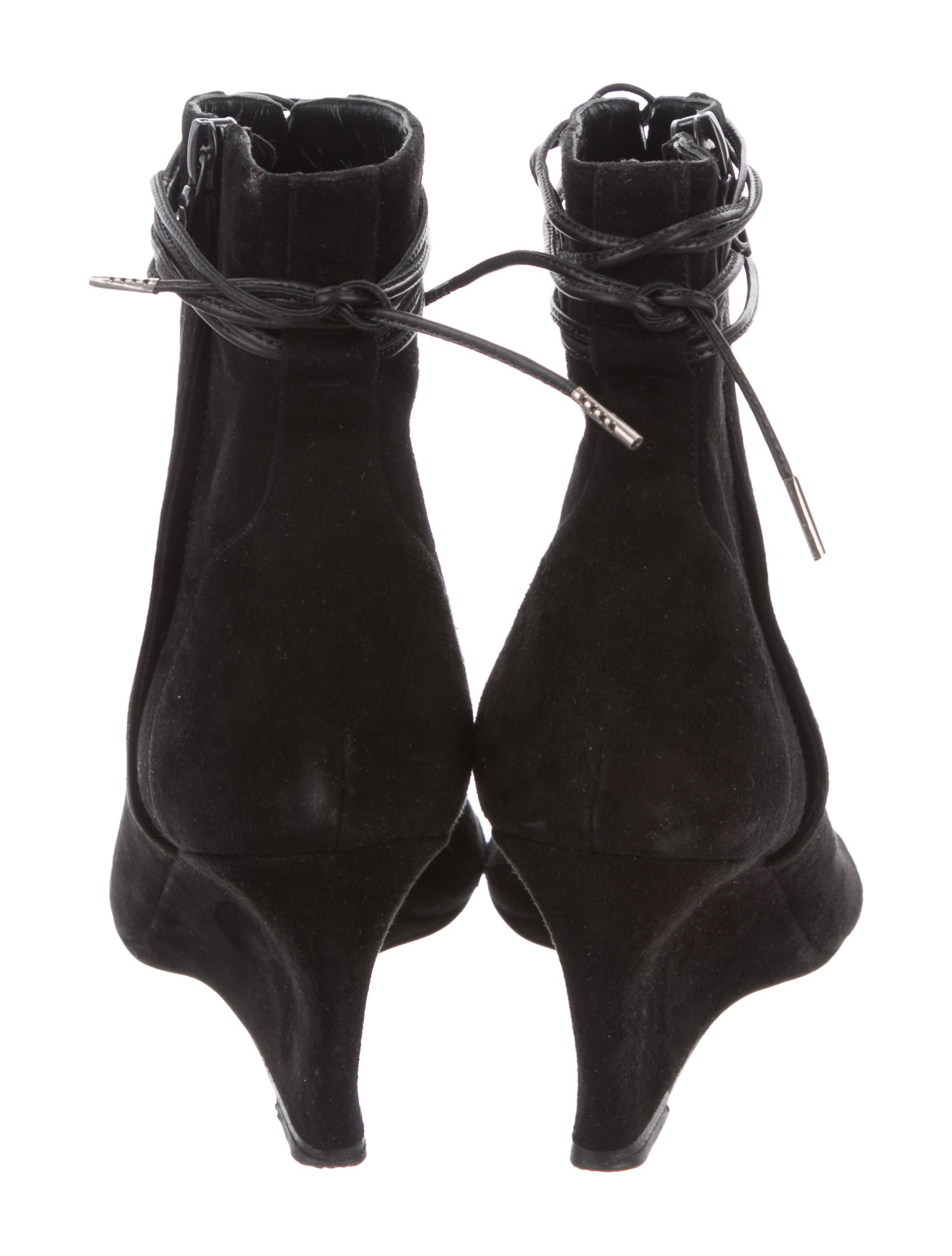 Narciso Rodriguez Wedge Lace-Tie Booties sale low shipping from china cheap online outlet supply NNoNSQCQ