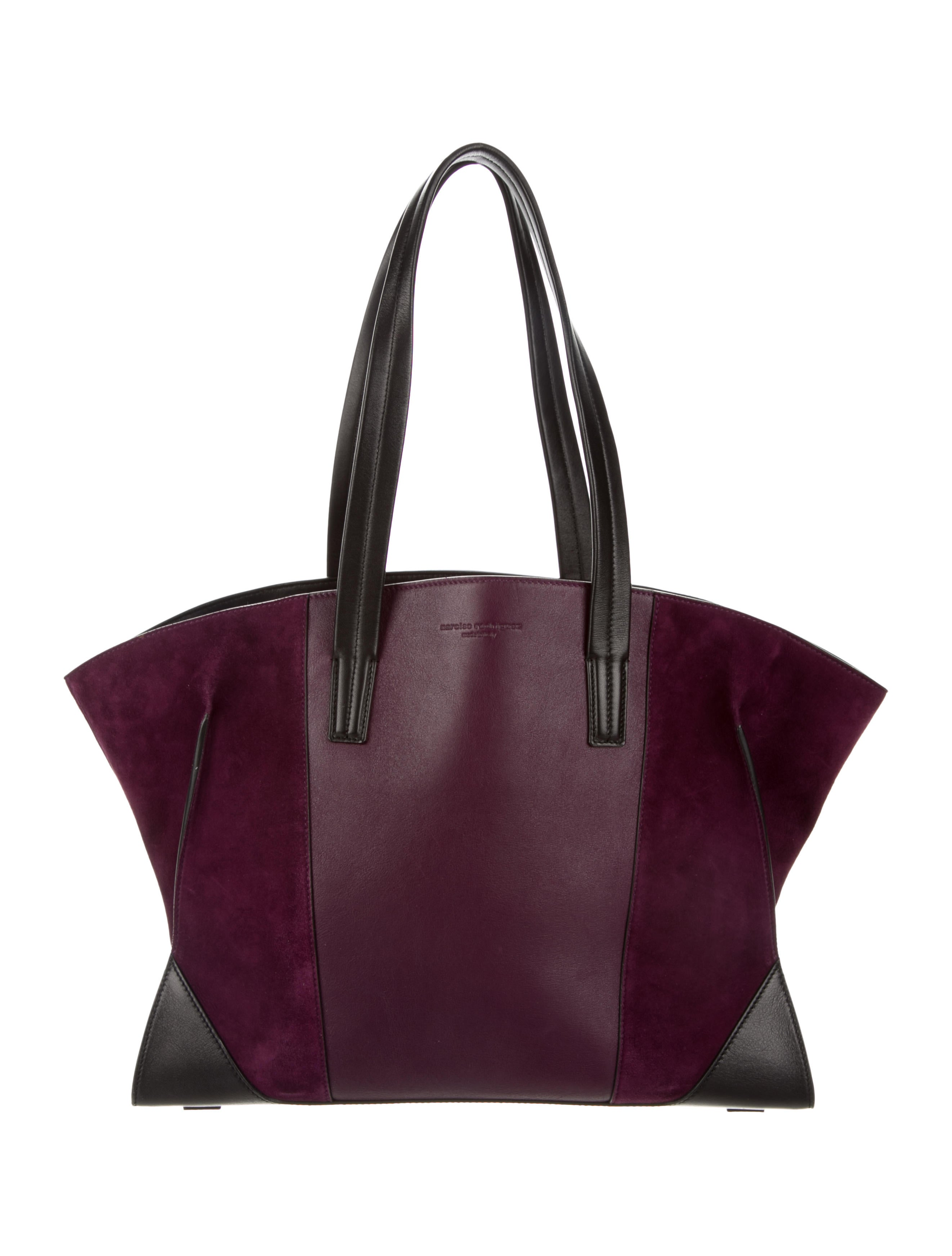 Women Handbags Narciso Rodriguez Leather Suede Claire Tote