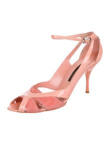 75245a9ad5195d Narciso Rodriguez. Patent Cutout Sandals