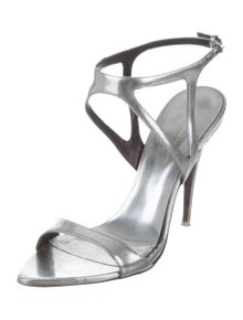 34f563a7af2b24 Narciso Rodriguez. Leather Ankle Strap Sandals