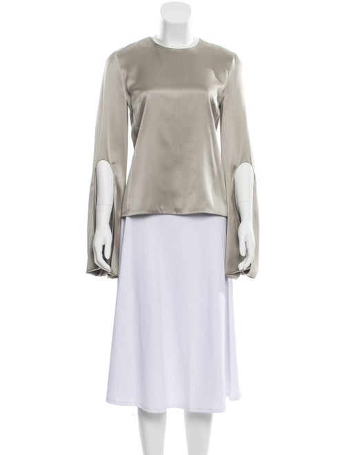 Narciso Rodriguez Silk Bell Sleeve Blouse