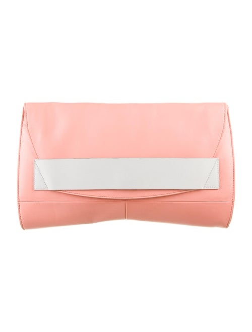 Narciso Rodriguez Leather Clutch Bag Orange