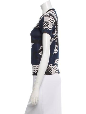 Printed Short Sleeve Sweatshirt w/ Tags