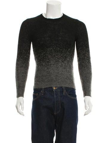 Neil Barrett Ombré Crew Neck Sweater None