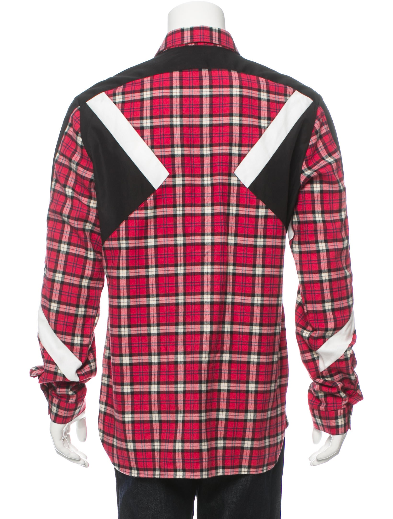 Neil barrett flannel button up shirt w tags clothing for Button up flannel shirts
