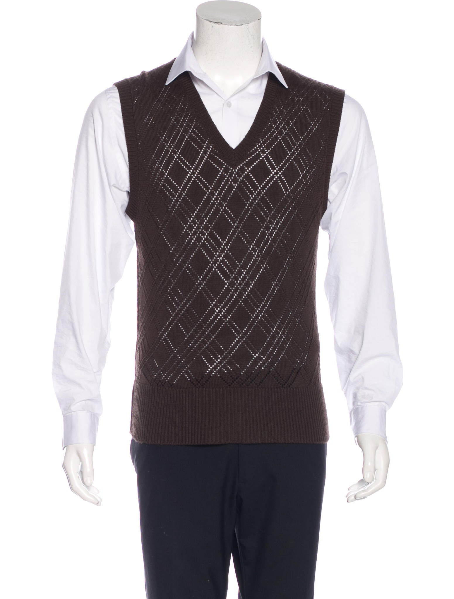 Neil Barrett V-Neck Sweater Vest - Clothing - NEB21244 | The RealReal