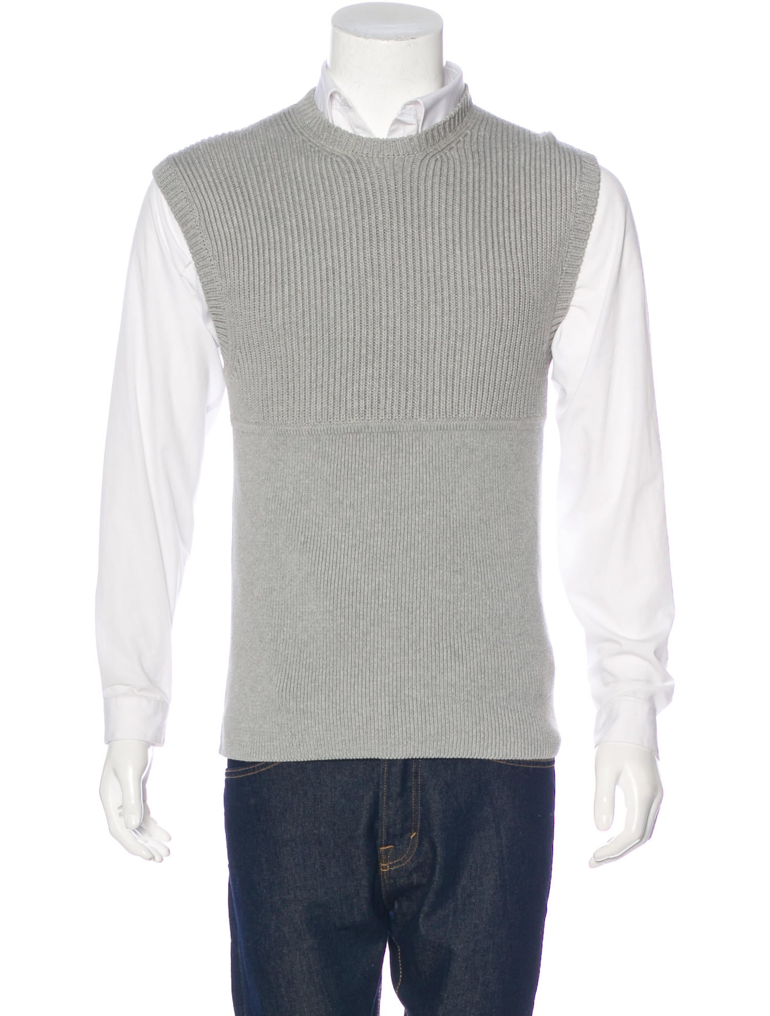 Neil Barrett Ribbed Sweater Vest w/ Tags - Clothing - NEB21367 ...