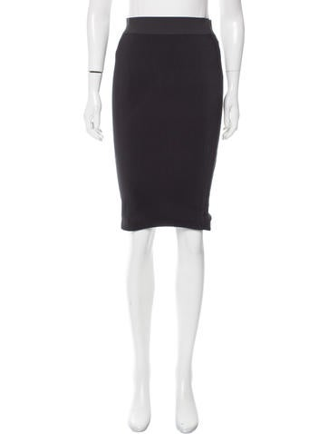 Neil Barrett Rib Knit Pencil Skirt None