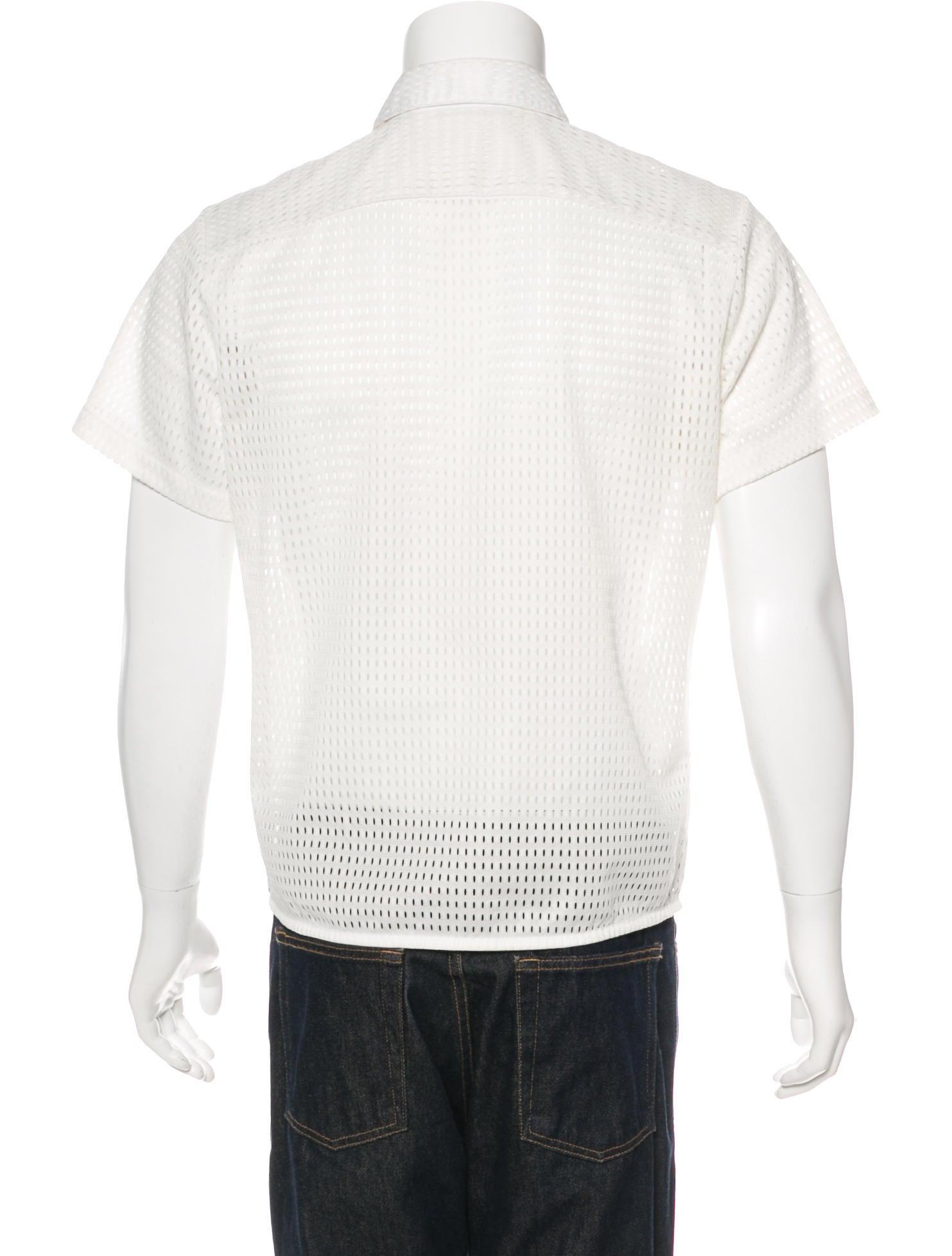 Neil barrett eyelet short sleeve shirt clothing for Mens eyelet collar dress shirts