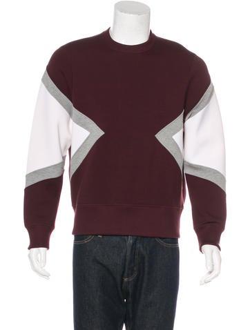 Neil Barrett Colorblock Crew Neck Sweatshirt None