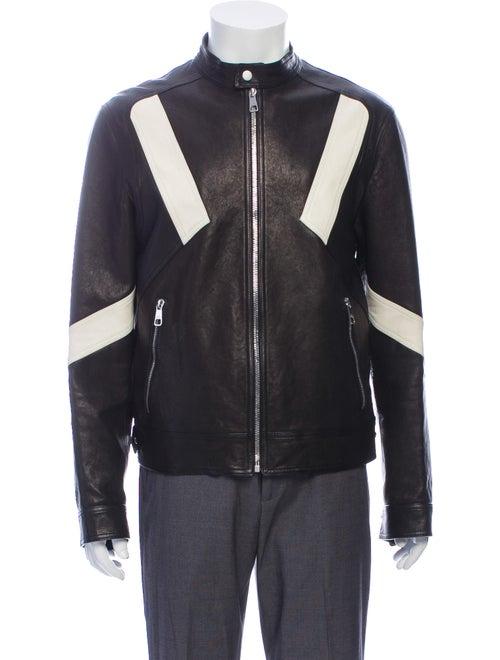 Neil Barrett Leather Jacket Black