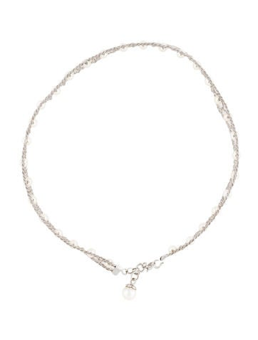 18K Pearl Wire Choker Necklace