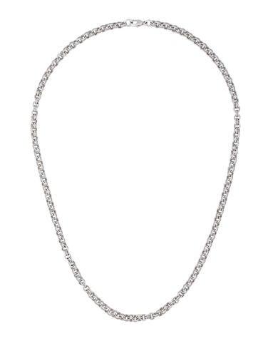 18K Textured Chain Necklace