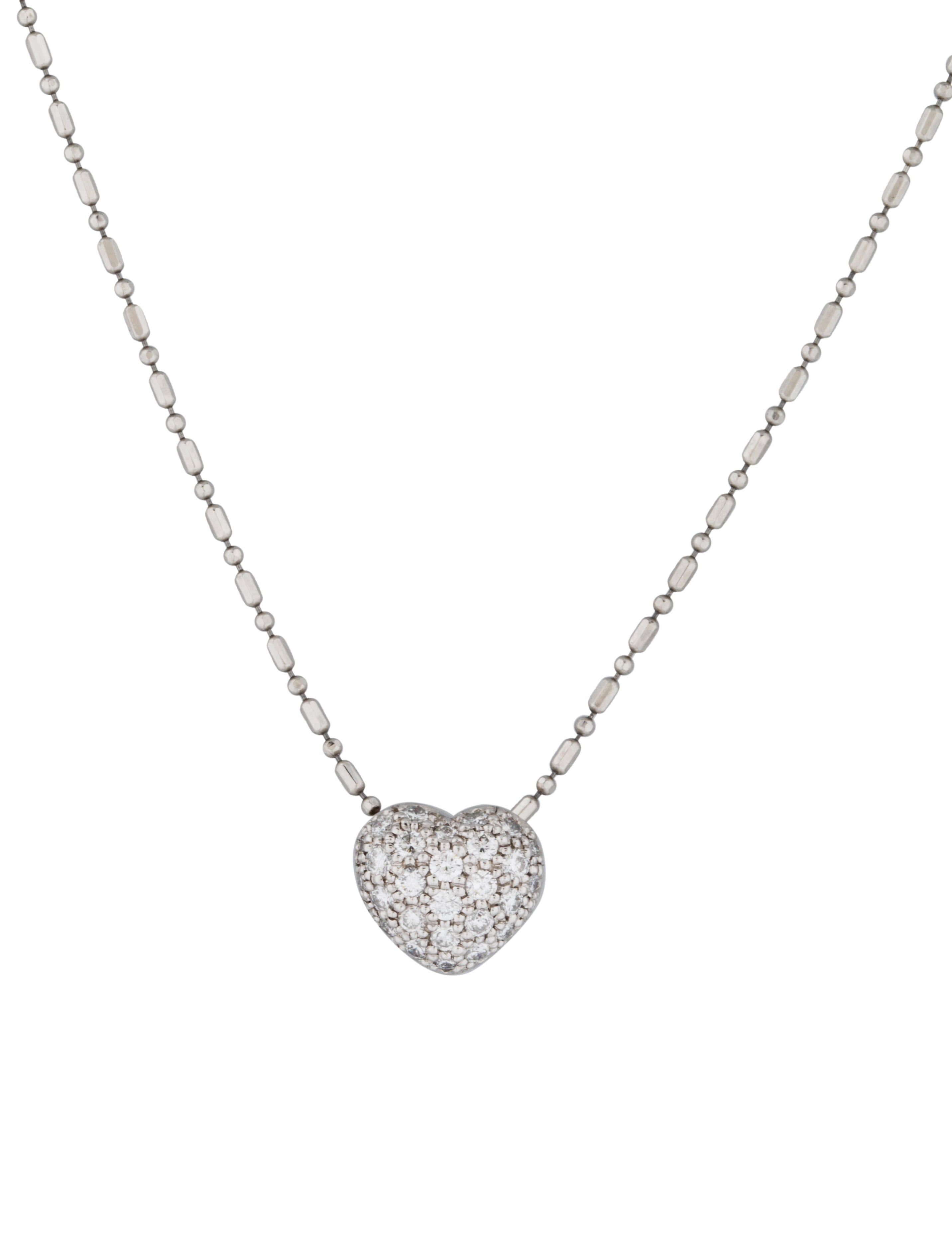 pave heart pendant necklace necklaces neckl21560 the. Black Bedroom Furniture Sets. Home Design Ideas