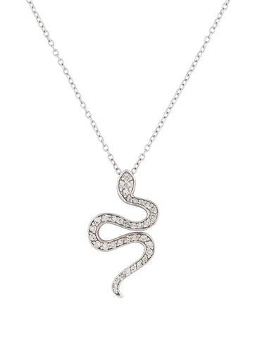 14K Diamond Snake Pendant
