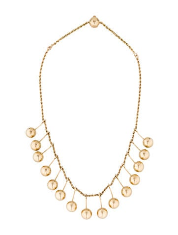 14K Bead Drop Necklace