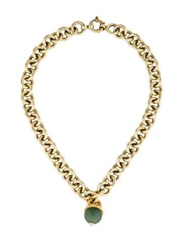 14K Serpentine Pendant Chain Necklace - Necklaces ...  14K Serpentine ...