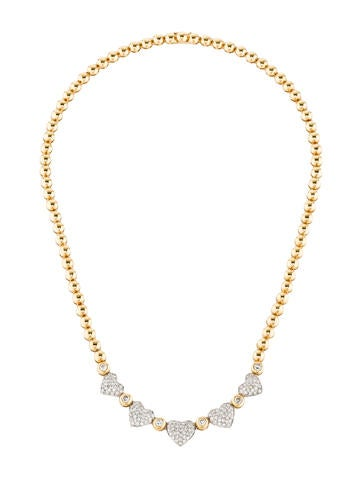 Diamond Heart Chain Necklace