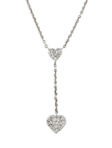 Necklace Pavé Heart Lariat Necklace None