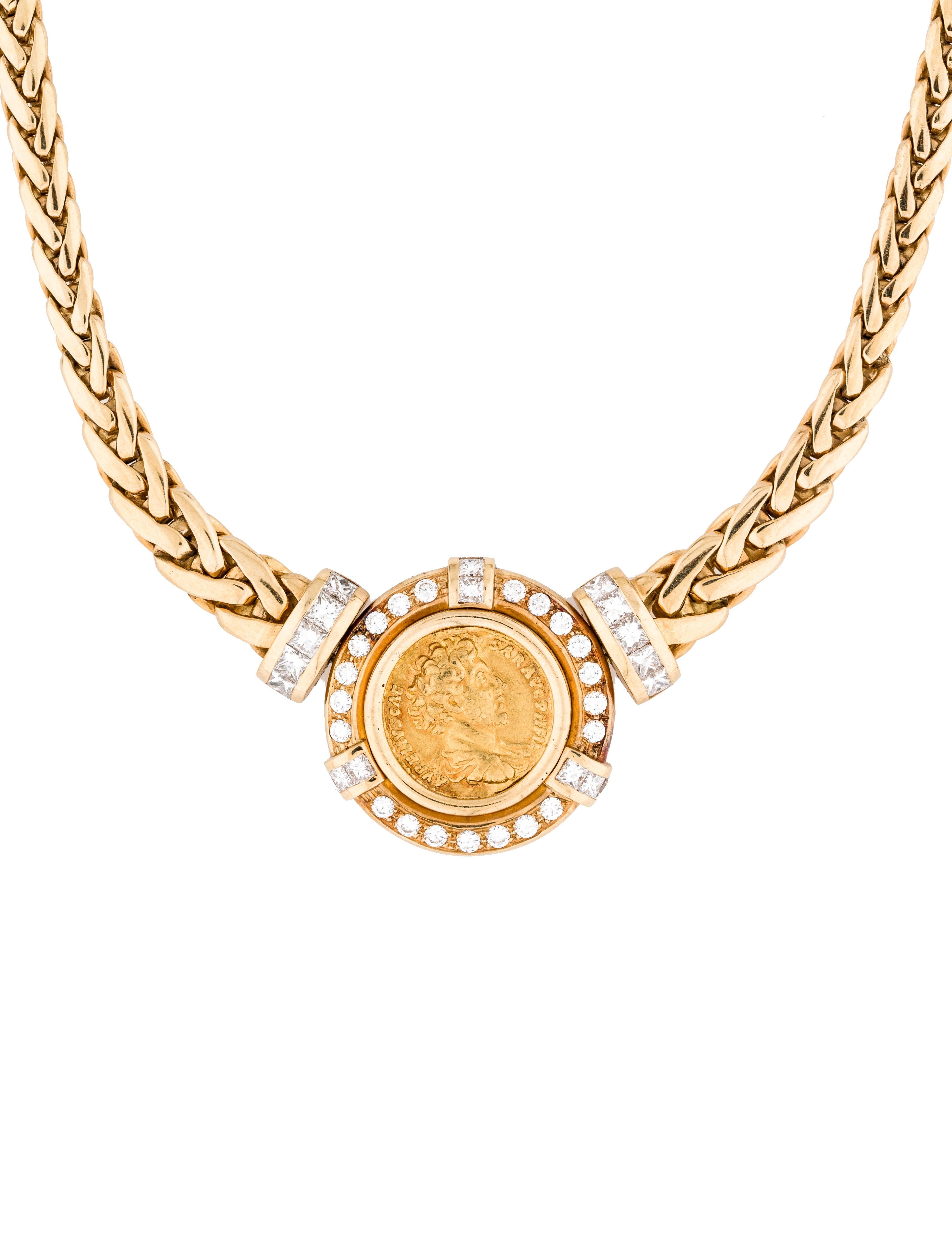 18k coin necklace necklaces neckl23944 the