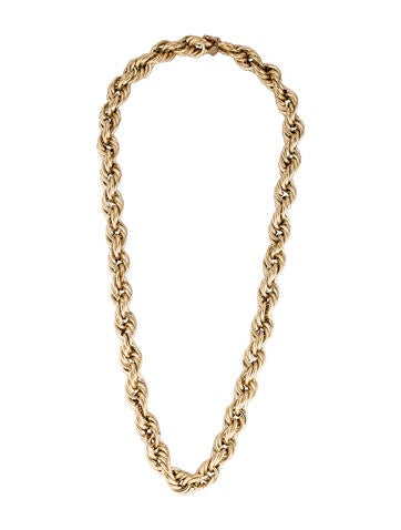 14K Rope Chain Necklace None