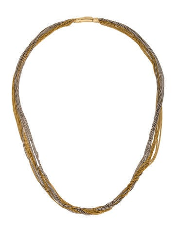 14K Multistrand Chain Necklace