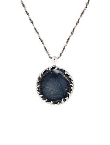 14K Druzy & Diamond Pendant Necklace