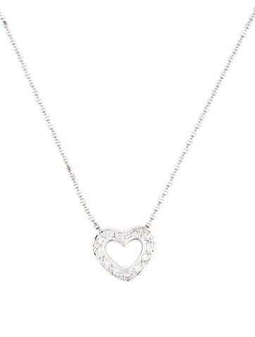 Diamond Heart Pendant Necklace None