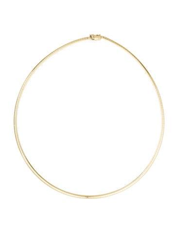 14K Omega Collar Necklace