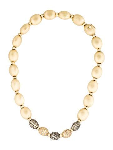 18K Yellow Sapphire & Diamond Collar Necklace
