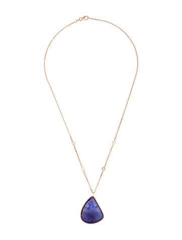 18K Tanzanite & Diamond Pendant Necklace