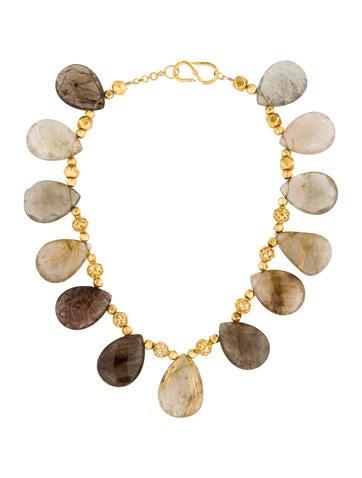 18K Quartz Collar Necklace