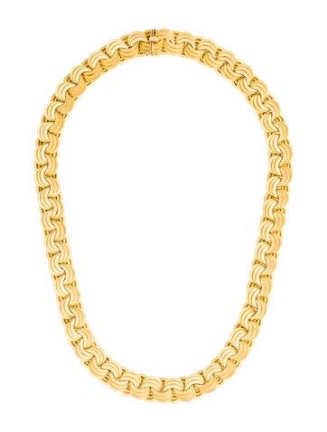 18K Textured Link Necklace