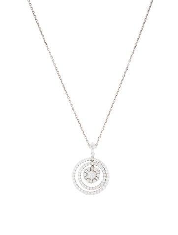 18K Diamond Circles Pendant Necklace