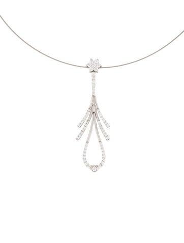 Diamond Flower Collar Necklace