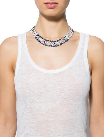 18K Diamond & Multistone Collar
