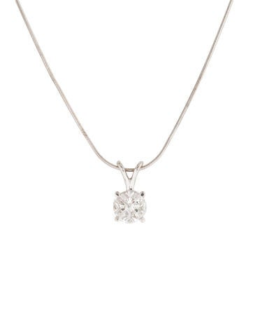 Triangular Diamond Pendant Necklace