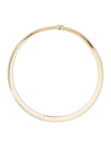 14K Omega Collar Necklace