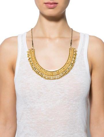22K Enamel Collar Necklace