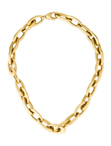 18K Oval Link Necklace