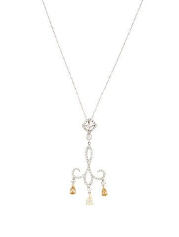 18K Diamond Chandelier Pendant Necklace