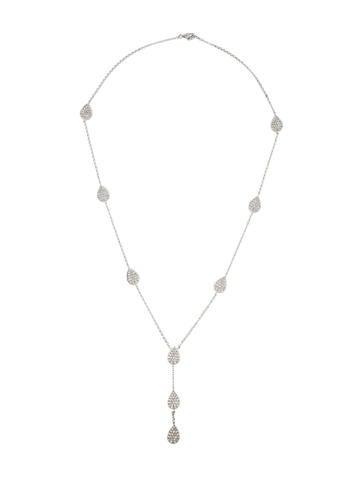 18K Diamond Lariat Necklace