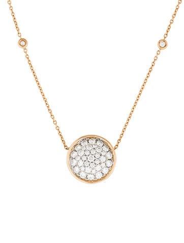18K Diamond Circle Pendant Necklace