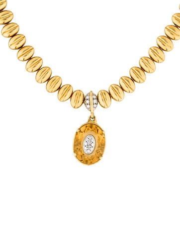 18K Citrine & Diamond Necklace