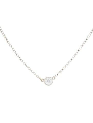 18K Diamond Solitaire Pendant Necklace