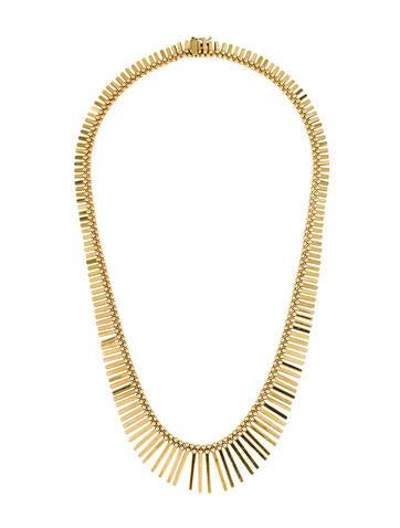 14K Articulated Fringe Necklace