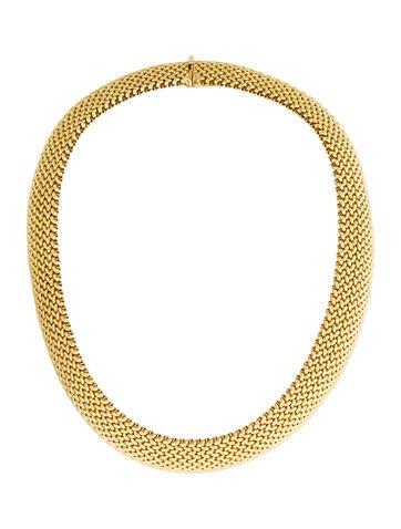 14K Woven Collar Necklace